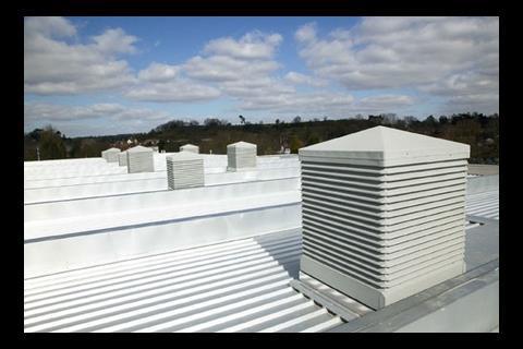 Yorkon's Bewdley School - Passive ventilation discharge terminals